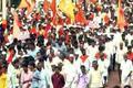 Lingayats protest in Karnataka's Bidar seeking separate religious status