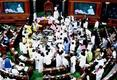 Protests continue in Parliament; Budget passed without discussion