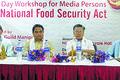 Media persons sensitised on NFSA