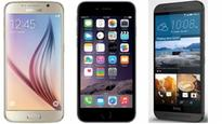 Here's how the flagships compare: Apple iPhone 6 vs Samsung Galaxy S6 vs HTC One M9