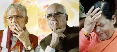 Advani, Joshi, Uma at CBI court to hear framing of charges in Babri case