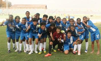 U-14 girls football team return safely from quake-hit Nepal