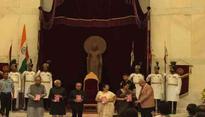 President Mukherjee receives book on PM Modi's 'Mann Ki Baat'