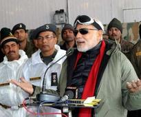 In Pics: PM Modi celebrates Diwali with Indian soldiers at Siachen