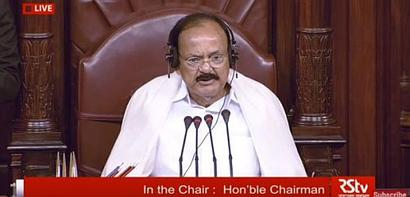 Naidu debuts as RS chairperson, asks MPs not to 'beg'