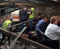 Commuter train hits station in New Jersey, dozens reported hurt