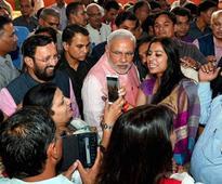 In Pics: Narendra Modi meets journalists