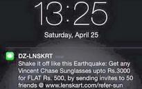'Shake it off like the earthquake' says Lenskart ad after Nepal tragedy kills over 400
