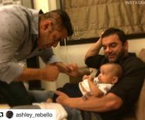SULTAN Salman Khan's DISHOOM with Ahil!