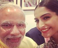 Role reversal: Fangirl Sonam's selfie with Narendra Modi