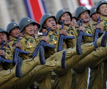 PHOTOS: North Korea puts on show of military might for anniversary