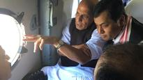 Rajnath reaches Assam to take stock of worsening flood situation
