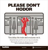 Please don't Hodor: New York subway's new heartbreaking sign