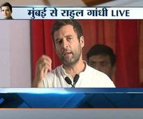 LIVE: How can a person accused of snooping talk about women security, asks Rahul at Mumbai rally