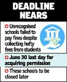 Unrecognised schools to be closed down soon