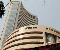 Sensex falls after four days at close