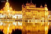 Fireworks, lighting at Amritsar's Golden Temple
