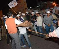 AAP, BJP workers clash at Connaught Place