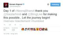 Sonam Kapoor begins shooting for 'Neerja Bhanot'