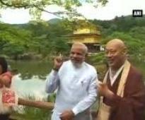 PM Modi visits Kinkaku ji Temple, interacts with public
