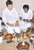 Rahul enjoys 'tasty fish' lunch at fisherman's house