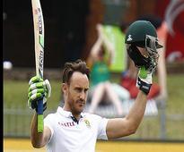 SA vs WI: Faf Du Plessis reaches century in rain-hit 2nd test