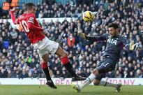 Manchester United held to a goalless draw at Tottenham Hotspur