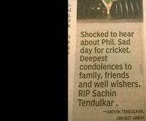 Times of India prints 'RIP Sachin Tendulkar'; Twitter ...
