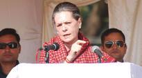 BJP responsible for Jharkhand's poor development: Sonia Gandhi