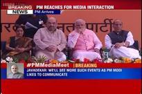 PM media meet live: Narendra Modi reaches BJP headquarters to meet journalists, editors