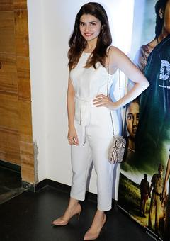 PIX: Prachi Desai, David Dhawan watch Drishyam