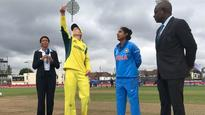 OUT!Mandhana perishes on the final ball of the first over.Massive blow for India!