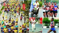 As pollution falls, thousands turn up for half marathon