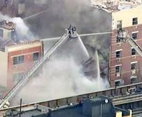 New York building explodes, collapses; 11 people injured