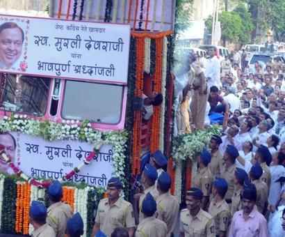 Political bigwigs bid adieu to Murli Deora