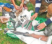 Cache of arms, ammos recovered
