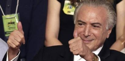 Michel Temer sworn in as Brazil's new president