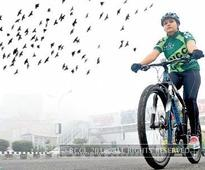 Noida is better for cycling than Delhi  it's greener, more peaceful: Preeti Chauhdary, Noida's long-distance cyclist