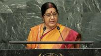 UNGA: Restrained Sushma cracks Balochistan whip, Pak says 'litany of falsehoods and baseless allegations'