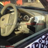 2015 Mahindra Quanto facelift might be named 'Canto'; interiors spied