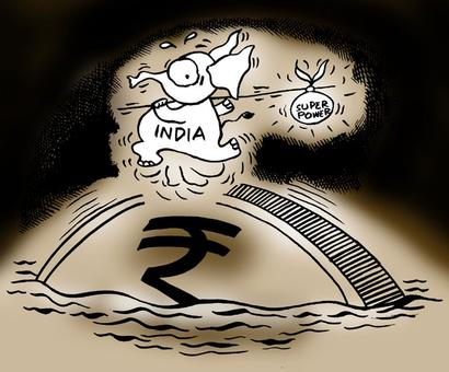 Rupee ends higher at 61.84 against the dollar