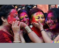 People throng streets to celebrate Holi in Punjab, Haryana