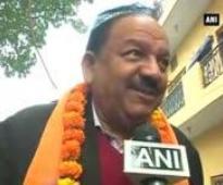 Delhi Polls: BJPs CM candidate Kiran Bedi holds roadshow in Krishna Nagar constituency