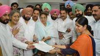 Ambika Soni files nomination for Rajya Sabha polls from Punjab