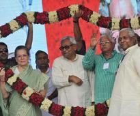 'Secular' alliance slams Modi at Patna rally