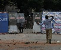 Telangana issue: Protesting Osmania students attack cops