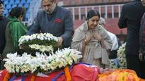 Nepal: Sushma Swaraj leads all-party delegation to former PM Sushil Koirala's funeral