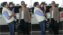 In Pics: Taimur Ali Khan leaves for Pataudi to celebrate his first birthday with Saif and Kareena!