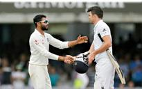 Jadeja fined 50 per cent for Anderson row