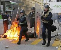 New Year celebrations turn violent: Hong Kong ...